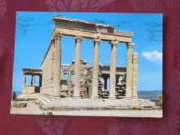 """Greece 1972 Postcard """"Athens Acropolis Erechtheion"""" To Belgium - Europa CEPT - Greece"""