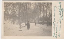 Fotokaart , Photocarte à SITUER , Cachet Louvain , Leuven ,1910 Sous La Neige Dans Le Parc - Leuven