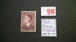 Timbres Anciens Vendus à 15% De La Valeur Catalogue  COB 879* - Unused Stamps