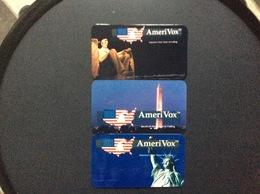 3 CARTES  PREPAYEES ÉTATS-UNIS  Amérivox - Stati Uniti