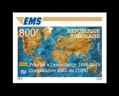 Togo 2019 Mih. 10826B EMS Postal Service (imperf) MNH ** - Togo (1960-...)