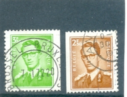 1970 BELGIQUE Y & T N° 1562 Et 1563 ( O ) COB 1562 Et 1563a - Belgien