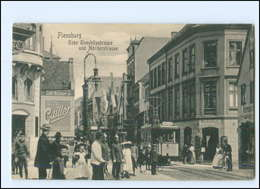 U9297/ Flensburg Toosbüystr. Ecke Norderstr. Straßenbahn AK 1908 - Flensburg
