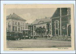 XX006186/ Eupen Rathaus Straßenbahn AK Belgien 1918 - Non Classés