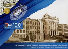 Georgia - 2018 - Centenary Of Tbilisi State University - Mint Souvenir Sheet - Géorgie