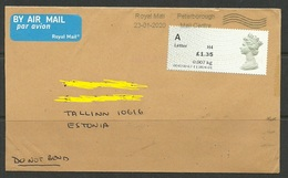 GREAT BRITAIN 2020 Air Mail Cover To Estonia - Briefe U. Dokumente