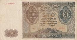 Billet 100 Zlotych Pologne 1941 - Polen