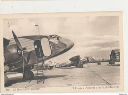 LE BOURGET DUGNY 2 AVIONS POTEZ 62 DE L AIR FRANCE CPA BON ETAT - 1946-....: Ere Moderne