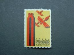 Poster Stamp Cinderella Reichenberg Samples Fair 1930 (Liberec Czechoslovakia) - Czechoslovakia