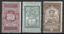 Italy - Italia -  1921 Mi. Nr. 141/143 - Ungebraucht