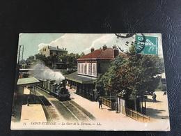 73 - SAINT ETIENNE La Gare De La Terrasse - 1910 Timbrée - Saint Etienne