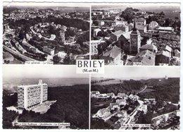 54 - BRIEY - (Multivue Aérienne) - La Cité Radieuse - Rue De La Croix - Le Cloué - L'église - Briey