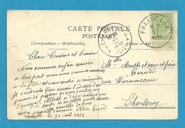 83 (zegel Uit Boekje / Carnet-timbre) Op Kaart Met Als Aankomst Stempel FALISOLLE  (28mm) - 1893-1907 Armoiries