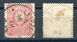 Deutsches Reich Michel-Nr. 33b Vollstempel - Geprüft - Oblitérés