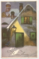 BA 1752, OLD FANTASY POSTCARD , PERIOD 1945-1970 , CIRCULATED , BONNE ANNEE , VIEWS And LANDSCAPES - Nouvel An