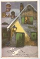 BA 1752, OLD FANTASY POSTCARD , PERIOD 1945-1970 , CIRCULATED , BONNE ANNEE , VIEWS And LANDSCAPES - Nieuwjaar