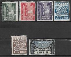 Italy - Italia -  1923 Mi. Nr. 177/182 - Ungebraucht