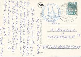 Mi 1342 Solo Postcard / Brocken Cachet - 29 April 1994 Schierke To Denmark - Lettres & Documents