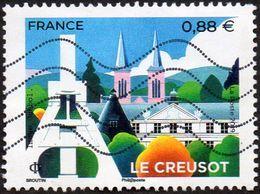 Oblitération Moderne Sur Timbre De France N° 5345 - Le Creusot (Saône-et-Loire) - Frankreich