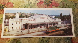Russia. Crimea. Sevastopol. Railway Station - Bahnhof -  1980s - Train - Locomotive - Stazioni Con Treni