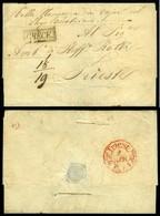 Smirne. 1841 Folded Disinfected Letter. - Smyrna