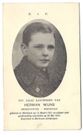 Herman Wijns Kruistochter 10 Jaar  Misdienaar 1941  Merksem Antwerpen - Images Religieuses