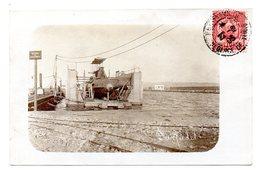 Carte Photo Ecrite Le Farfadet En Reparation Sur Son Dock Flottant Avant Son Accident - Tunisia