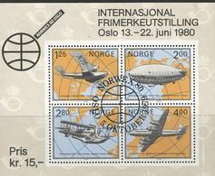 Noorwegen, Mi Blok 2, Jaar 1979, Gestempeld - Blocs-feuillets