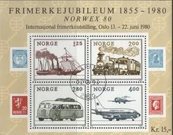 Noorwegen, Mi Blok 3, Jaar 1980, Gestempeld - Blocs-feuillets