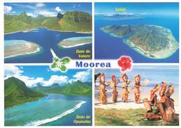 Polynesie Française Carte 4 Vues Moorea + Timbre 2013 Legende Polynesienne Carte Teva Sylvain - Polynésie Française