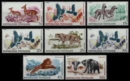 Togo 1967 - Mi-Nr. 598-605 ** - MNH - Wildtiere / Wild Animals - Togo (1960-...)