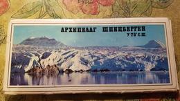 Russia Vs Norway. Spitzbergen. Spitsbergen . Svalbard. 13 Postcards. Long Format. 1976 - Noorwegen
