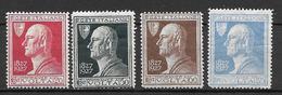 Italia - Italy 1927 Mi. Nr. 259/262 - Ungebraucht