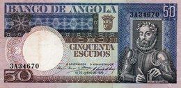 ANGOLA 50 ESCUDOS 1973  P-105  UNC - Angola