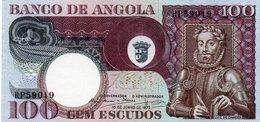ANGOLA 100 ESCUDOS 1973  P-106  UNC - Angola