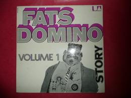 LP N°1856 - FATS DOMINO - STORY - VOL. 1 & 2 & 3 - COMPILATION 3 LP 50 TITRES ROCK FUNK BLUES R&BAYOU JAZZ ***** TOP - Blues
