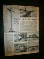 BRUGGE. ZEEBRUGGE Herrijst Uit Het Puin. - Documents Historiques