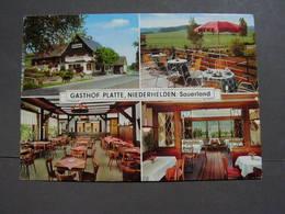 Gasthof Platte Niederhelden Um 1960 - Olpe
