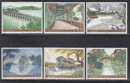 2008 China Summer Palace Architecture Culture Complete  Set Of 6 MNH - 1949 - ... Repubblica Popolare
