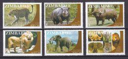 Zimbabwe 2009 Big 5 (Lion, Elephant Etc) MNH / ** (Simbabwe) - Zimbabwe (1980-...)