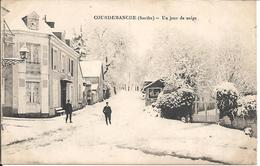 "72- Sarthe -COURDEMANCHE    "" Un Jour De Neige "" - Frankrijk"