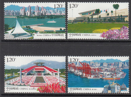 2008 China Development Taiwan Strait Ships Ports Complete  Set Of 4 MNH - 1949 - ... Repubblica Popolare