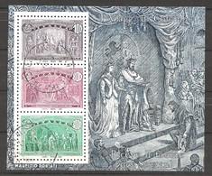 ITALIA - 1992 5° Cent. Scoperta America CRISTOFORO COLOMBO Riceve Favore Sovrani Foglietto Usato - 6. 1946-.. Repubblica