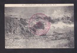 CPA - 17 - CHATELAILLON - LES ROCHES DE SAINT JEAN - CACHET HOPITAL AUXILIAIRE - Châtelaillon-Plage