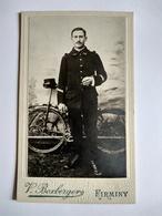 Vélo - Cycle - CDV Militaire De L'INFANTERIE CYCLISTE - 16 Sur Col - Photo Boxberger, FIRMINY TBE - Guerre, Militaire