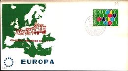 12131) Liechtenstein Michel Nr. 398 FDC Europa Cept 1960 - FDC
