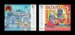 Croatia 2020 Mih. 1438/39 Rijeka And Galway - 2020 European Capitals Of Culture (joint Issue Croatia-Ireland) MNH ** - Croazia