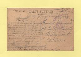 6e Regiment D Artillerie A Pied - 4e Bataillon Territorial - 1915 - Guerra De 1914-18