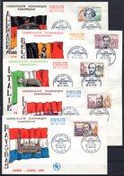 FDC FRANCE 1963 - N° 1382 à 1386 -Grands Hommes De La Communauté Economique Européenne - 1960-1969