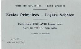 Chateau D'Antoing Près De Tournai , Carte Bleue ,Voir Verso :carte Bonnes NOTES école Primaires Lagere Scholen Bruxelles - Antoing